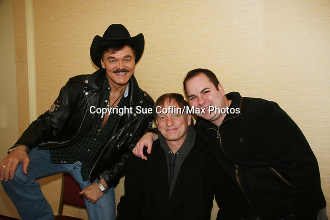 Randy Jones (The Village People) - Justin Deas both are in the film An Affirmative Act! and Kenneth Del Vecchio is the writer and director of the film being introduced at the Hoboken International Film Festival -  Affirmative Act! - a groundbreaking gay marriage courtroom drama on January 21, 2010 at the Marriott Saddle Brook, Saddle Brook, NJ. (Photo by Sue Coflin/Max Photos)