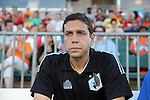 24 August 2013: Minnesota head coach Manny Lagos. The Carolina RailHawks played the Minnesota United FC Loons at WakeMed Stadium in Cary, NC in a 2013 North American Soccer League Fall Season game. Carolina won 1-0.