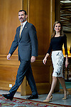 Audience in the Reconquista Hotel by the kings of Spain Felipe VI and Letizia Ortiz. 2014. 2014/10/24. Samuel de Roman / Photocall3000
