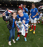 Ian Black and daughter with the SFL Division 3 trophy