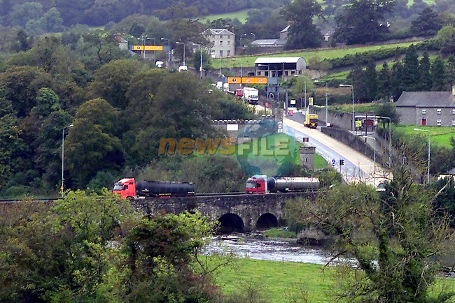 the remedial work being carried out on Slane Bridge Hill and Bridge approach..Picture Fran Caffrey Newsfile...This Picture is sent to you by:..Newsfile Ltd.The View, Millmount Abbey, Drogheda, Co Louth, Ireland..Tel: +353419871240.Fax: +353419871260.GSM: +353862500958.ISDN: +353419871010.email: pictures@newsfile.ie.www.newsfile.ie