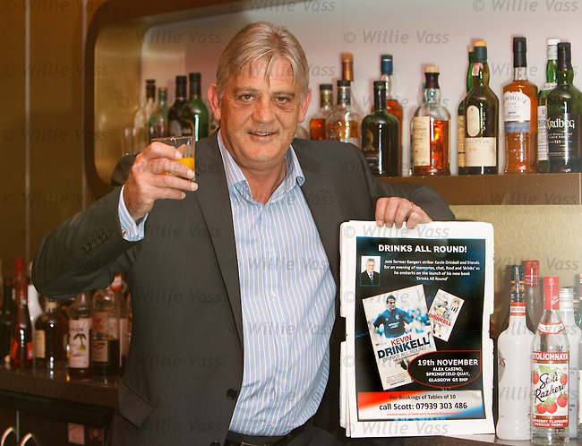 "Kevin Drinkell promotes his book launch ""Drinks All Round"" and evening event ant the Alea Casino, Glasgow"