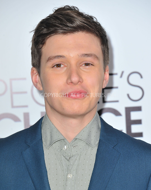 WWW.ACEPIXS.COM<br /> <br /> <br /> January 8, 2014, Los Angeles, CA.<br /> <br /> Nick Robinson arriving atThe 40th Annual People's Choice Awards held at Nokia Theatre L.A. Live on January 8, 2014 in Los Angeles, California. <br /> <br /> <br /> <br /> <br /> <br /> <br /> By Line: Peter West/ACE Pictures<br /> <br /> ACE Pictures, Inc<br /> Tel: 646 769 0430<br /> Email: info@acepixs.com