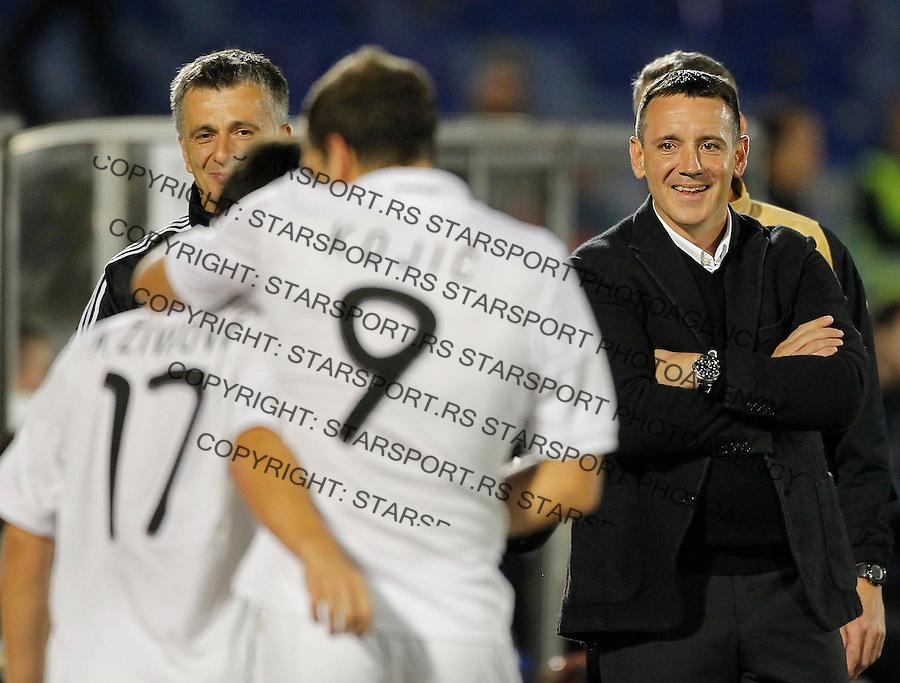 Fudbal Super liga season 2013-2014<br /> Partizan v OFK Beograd<br /> Head coach Vuk Rasovic Nemanja Kojic Andrija Zivkovic<br /> Beograd, 21.09.2013.<br /> foto: Srdjan Stevanovic/Starsportphoto &copy;