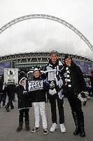 Pictured: Swansea supporters.