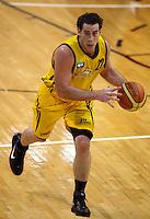 Taranaki forward Aaron Bailey-Nowell during the National basketball league match between the Wellington Saints  and Taranaki Mountainairs at TSB Bank Arena, Wellington, New Zealand onFriday, 9 April 2010. Photo: Dave Lintott / lintottphoto.co.nz