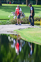 Phil Mickelson (USA) walks across the bridge on 6 with his brother, Tim, who replaced Bones due to sickness after 1.5 holes during round 2 of the World Golf Championships, Mexico, Club De Golf Chapultepec, Mexico City, Mexico. 3/3/2017.<br /> Picture: Golffile | Ken Murray<br /> <br /> <br /> All photo usage must carry mandatory copyright credit (&copy; Golffile | Ken Murray)