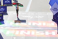Nova York (EUA), 03/11/2019 - Maratona de Nova York - Geoffrey Kamworor cruza a linha de chegada para vencer a Divisão Masculina da Maratona TCS de Nova York 2019 em 3 de novembro de 2019 na cidade de Nova York. (Foto: William Volcov/Brazil Photo Press)