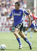 9 April 2005:  SJ Earthquakes Brian Ching in action against Chivas USA at Spartan Stadium in San Jose, California.   San Jose Earthquakes tied Chivas USA, 3-3.   Credit: Michael Pimentel / ISI