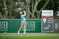 Trevor Fisher JNR (RSA) on the 9th tee during the 3rd round of the AfrAsia Bank Mauritius Open, Four Seasons Golf Club Mauritius at Anahita, Beau Champ, Mauritius. 01/12/2018<br /> Picture: Golffile | Mark Sampson<br /> <br /> <br /> All photo usage must carry mandatory copyright credit (© Golffile | Mark Sampson)