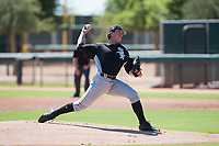 Chicago White Sox starting pitcher Lincoln Henzman (30) delivers a pitch during an Instructional League game against the Kansas City Royals at Camelback Ranch on September 25, 2018 in Glendale, Arizona. (Zachary Lucy/Four Seam Images)