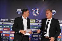 VOETBAL: HEERENVEEN, 18-08-2013, SC Heerenveen - Heracles 2-4, Marco van Basten en Heracles coach Jan de Jonge, ©foto Martin de Jong