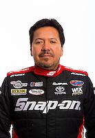 Jan 16, 2013; Palm Beach Gardens, FL, USA; NHRA funny car driver Cruz Pedregon poses for a portrait. Mandatory Credit: Mark J. Rebilas-