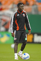 DC United midfielder Freddy Adu (9) during pre-game warmups. The New England Revolution defeated DC United 2-1, Saturday, October 7, 2006, at RFK Stadium.