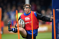 Darren Atkins of Bath Rugby looks on during the pre-match warm-up. Anglo-Welsh Cup Final, between Bath Rugby and Exeter Chiefs on March 30, 2018 at Kingsholm Stadium in Gloucester, England. Photo by: Patrick Khachfe / Onside Images