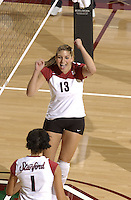 24 September 2005: Lizzy Suiter during Stanford's 30-22, 31-29, 30-26 win against UCLA Bruins at Maples Pavilion in Stanford, CA.
