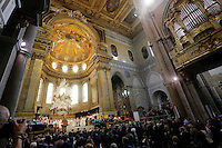 the faithful wait   the liquefaction of the blood of San Gennaro, the patron saint of Naples, during the San Gennaro miracle announcement in the cathedral of Naples, 19 September 2016