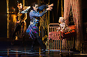 London, UK. 07.12.2012. MATTHEW BOURNE'S SLEEPING BEAUTY: A GOTHIC FAIRYTALE premieres at Sadler's Wells. Christopher Marney (Count Lilac), Joe Walking (background - Autumnus) in Act I: The Fairies Visit the Baby Aurora. Photo credit: Jane Hobson.