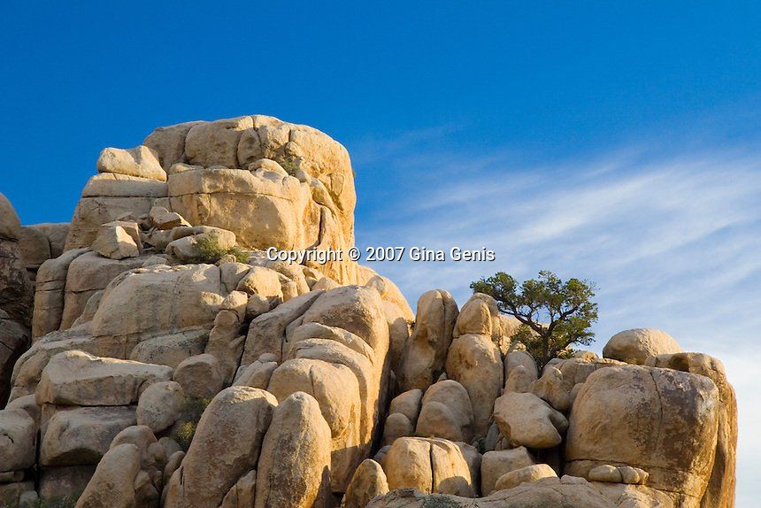 Rock formation in Hidden Valley, Joshua Tree National Park