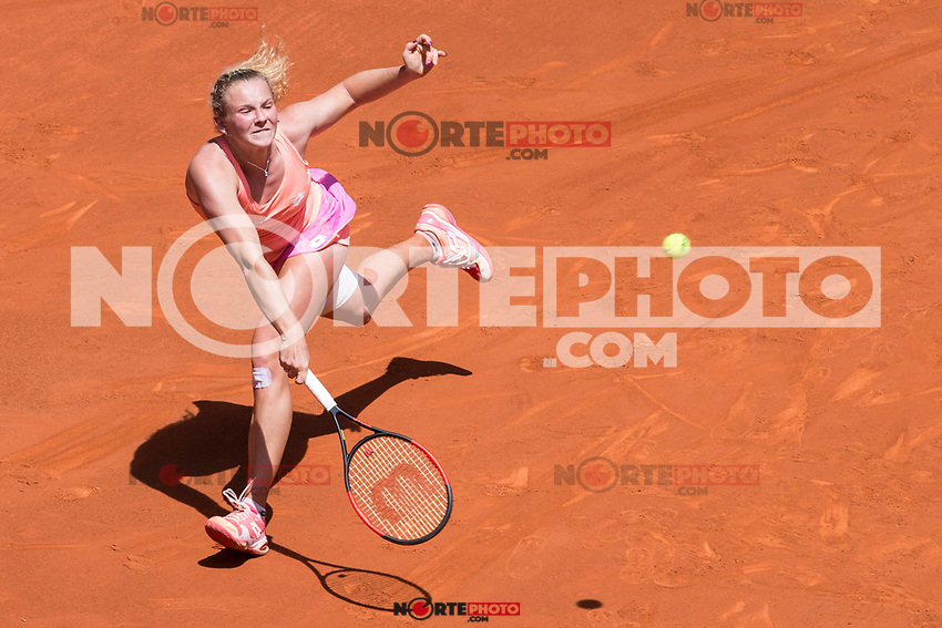 Katherina Siniakova during  Mutua Madrid Open Tennis 2017 at Caja Magica in Madrid, May 08, 2017. Spain. /NortePhoto.com