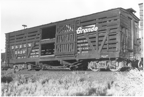 Stock car #5839.<br /> D&amp;RGW