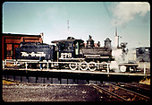 D&amp;RGW #278 on turntable at Gunnison.<br /> D&amp;RGW  Gunnison, CO