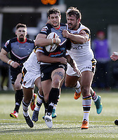 Jay Pitts in action for London during the Kingstone Press Championship game between London Broncos and Bradford Bulls at Ealing Trailfinders, Ealing, on Sun March 5, 2017