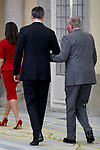 King Felipe VI of Spain, and Former King Juan Carlos I of Spain attends to National Sports Awards at Royal Palace of el Pardo in Madrid, Spain. January 10, 2019. (ALTERPHOTOS/A. Perez Meca) (ALTERPHOTOS/A. Perez Meca)