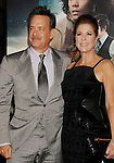 HOLLYWOOD, CA - OCTOBER 24: Tom Hanks and Rita Wilson arrive at the Los Angeles premiere of 'Cloud Atlas' at Grauman's Chinese Theatre on October 24, 2012 in Hollywood, California.
