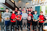 Killarney Rugby Club Undre 14 League and Cup Winners Awards Night in the Avenue Hotel Killarney last Friday.<br /> Pictured are front l-r Darren Cronin (Best New Player), Peter Walsh (Most Committed Player), Padraig Robert, Seamus Grelay (Coach), Donnchadh Grelay, Tomas Clifford (Player of the Year), Rian Colleran (Most Improved Player), back l-r Liam Murphy (PRO), Shane McAllister, Baily O'Sullivan, Brenda O'Donoghue, Samuel Behal and Paul Murphy (Club Chairman).