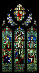 Victorian 19th century stained glass window, Claydon church, Suffolk, England, UK c 1894 A L Moore