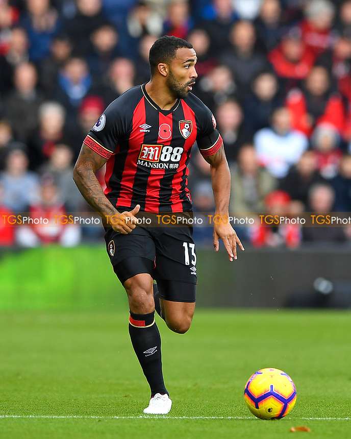 Callum Wilson of AFC Bournemouth during AFC Bournemouth vs Manchester United, Premier League Football at the Vitality Stadium on 3rd November 2018