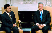 United States President Bill Clinton, right, meets Jordan's King Abdullah II of Jordan in the Oval Office of the White House in Washington, D.C., May 18, 1999. Abdullah is on his first visit to the U.S. since he assumed the throne on the death of his father King Hussein three months ago.  .Credit: Georges DeKeerle - Pool via CNP
