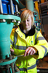 Welsh Water apprentice Kirsty Davies..Llwyn Onn Treatment Works.12.03.13.©Steve Pope