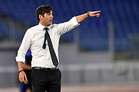 Paulo Fonseca coach of AS Roma reacts during the Serie A football match between AS Roma and UC Sampdoria at Olimpico stadium in Rome ( Italy ), June 24th, 2020. Play resumes behind closed doors following the outbreak of the coronavirus disease. AS Roma won 2-1 over UC Sampdoria. <br /> Photo Andrea Staccioli / Insidefoto
