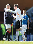 Kenny Miller and Neil Alexander at full time