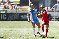 Portland, OR - Saturday August 05, 2017: Carli Lloyd, Meghan Klingenberg during a regular season National Women's Soccer League (NWSL) match between the Portland Thorns FC and the Houston Dash at Providence Park.