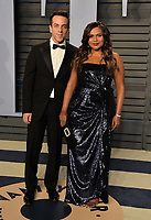 BEVERLY HILLS, CA - MARCH 4: BJ Novak and Mindy Kaling arrive at the 2018 Vanity Fair Oscar Party at the Wallis Annenberg Center for the Performing Arts on March 4, 2018 in Beverly Hills, California.(Photo by Scott Kirkland/PictureGroup)