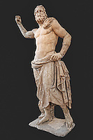 Marble statue of Poseidon (125-100 B.C.) in National Museum, Greece