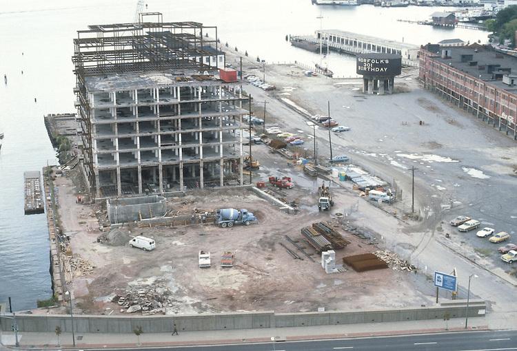 1983 October ..Redevelopment.Downtown West (A-1-6)..CONSTRUCTION PROGRESS VIEWS.BOUSH COLD STORAGE.HARBOR PLACE CONDOS...NEG#.NRHA#..