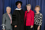 Left to right, Barbara Buxton, honorary degree recipient Sister Margaret Mary Fitzpatrick, S.C., president and CEO of St. Thomas Aquinas College in New York, Mary Conroy, and Frances Fahey. DePaul University College of Education held its commencement ceremony, Saturday, June 10, 2017, at the Rosemont Theatre in Rosemont, IL. The Rev. Dennis H. Holtschneider, C.M., president of DePaul, conferred the degrees. (DePaul University/Jeff Carrion)