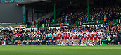 4th November 2017, Welford Road, Leicester, England; Anglo-Welsh Cup, Leicester Tigers versus Gloucester;  The teams and the Welford Road crowd take a minutes silence in remembrance of fallen comrades