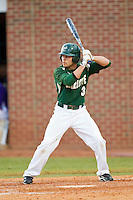 Michael Green (3) of the Charlotte 49ers at bat against the High Point Panthers at Willard Stadium on February 20, 2013 in High Point, North Carolina.  The 49ers defeated the Panthers 12-3.  (Brian Westerholt/Four Seam Images)