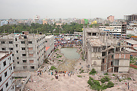 The site of the Rana Plaza building two years after it collapsed, Savar, near Dhaka, Bangladesh
