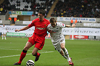 Pictured: Mark Gower of Swansea City in action<br /> Re: Coca Cola Championship, Swansea City Football Club v Watford at the Liberty Stadium, Swansea, south Wales 09 November 2008.<br /> Picture by Dimitrios Legakis Photography (Athena Picture Agency), Swansea, 07815441513