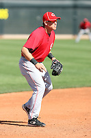 Chris Valaika, Cincinnati Reds, 2010 minor league spring training..Photo by:  Bill Mitchell/Four Seam Images.