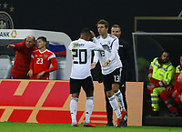 Thomas Mueller (Deutschland Germany) kommt für Serge Gnabry (Deutschland Germany) - 15.11.2018: Deutschland vs. Russland, Red Bull Arena Leipzig, Freundschaftsspiel DISCLAIMER: DFB regulations prohibit any use of photographs as image sequences and/or quasi-video.