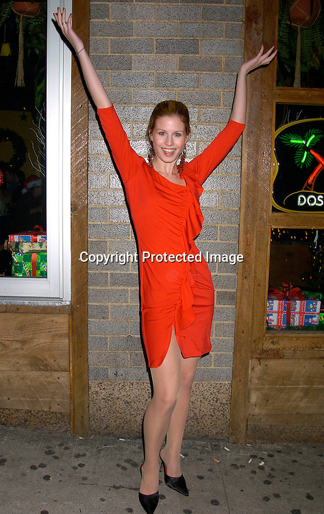Stephanie Gatschet..at the Guiding Light 2003 Christmas Party at Calico Jacks in ..New York City on December 12, 2003. Photo by Robin Platzer, Twin Images. The Party was given by John Conboy.