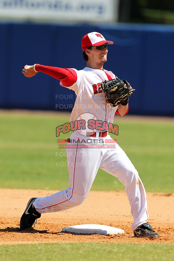 Illinois State Redbirds shortstop Josh Colon #1 during a game vs. the Ohio State Buckeyes at Chain of Lakes Park in Winter Haven, Florida;  March 11, 2011.  Illinois defeated Ohio State 12-1.  Photo By Mike Janes/Four Seam Images