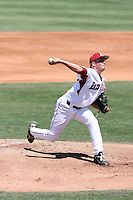 DJ Baxendale #24 of the Arkansas Razorbacks plays against the New Mexico Lobos in the Tempe Regional of the NCAA baseball post-season at Packard Stadium on June 4, 2011 in Tempe, Arizona. .Photo by:  Bill Mitchell/Four Seam Images.